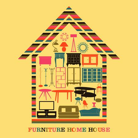 recreation rooms: HOME FURNITURE HOSE. Illustration