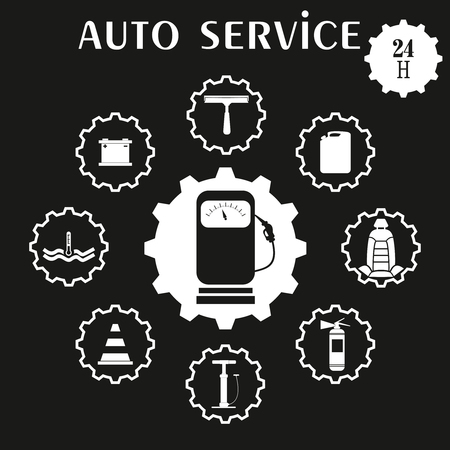 car care center: Car repair service icon. vector illustration.