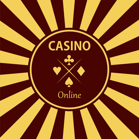 gambling chip: Casino  design elements vector icons. Casino games.Ace playing cards with chips on background.Set of gambling chip
