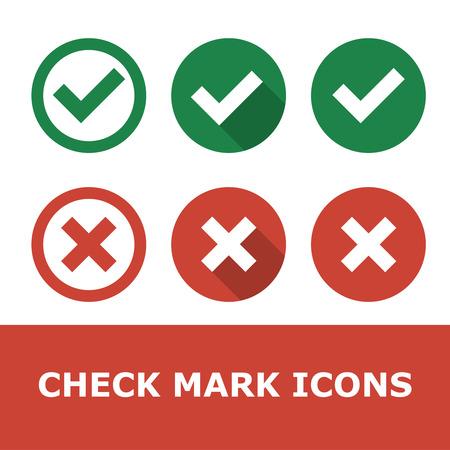 marks: Set of check marks.
