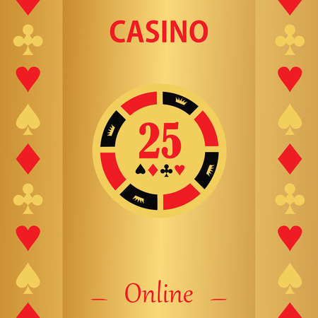 gambling chip: Casino  design elements vector icons. Casino games.Ace playing cards with chips on  background.Set of gambling chip Illustration