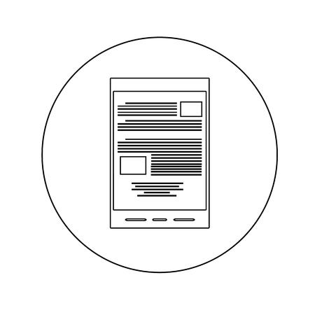 databank: e-book reader line icon. trendy modern illustration Illustration