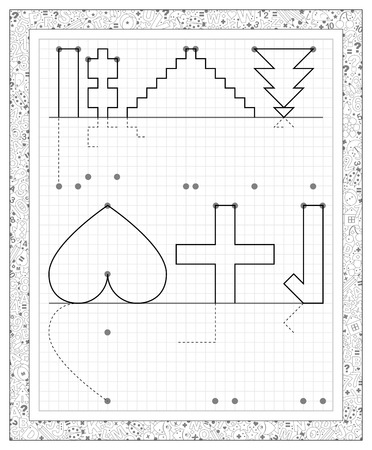 Logik-Puzzle Mit Labyrinth Auf Einem Quadratischen Papier. Sie ...