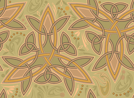 breton: Seamless pattern with Celtic ornament, vector image. Illustration