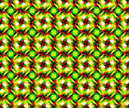 Abstract seamless pattern made from squares and triangles, vector image.