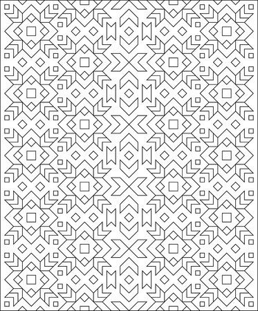 Schwarzweiss-Muster Mit Verzierung Für Die Färbung. Arbeitsblatt Für ...