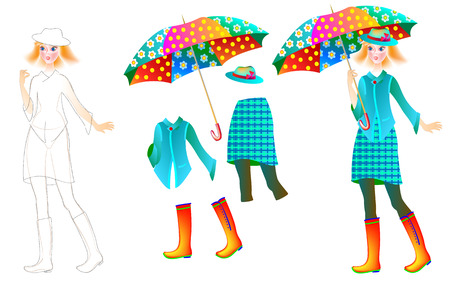 Ejercicio Para Que Los Niños Dibujen Y Pinten. Ilustraciones ...