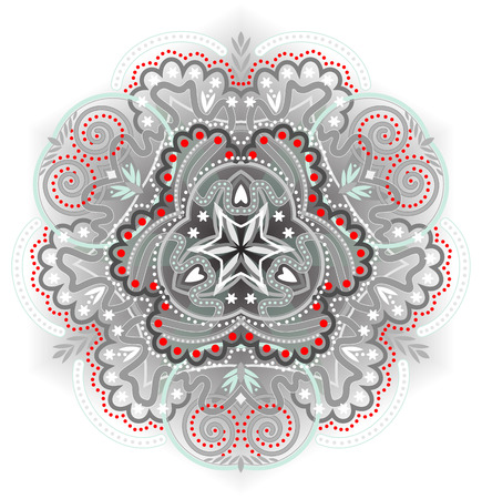 textile image: Fantasy ornament in the kaleidoscopic style Illustration