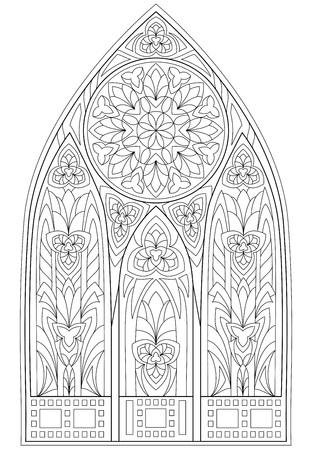 Pagina Preto E Branco Para Colorir Desenho Da Fantasia De Janelas