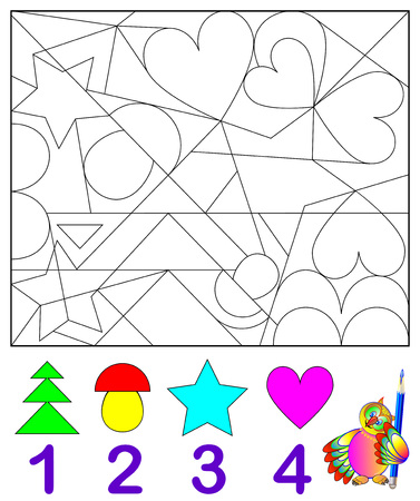 Logic exercise for young children vector