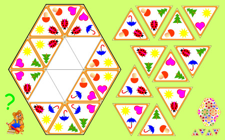 Logic Triomino puzzle. Need to find four remaining triangles and to draw them at the correct places.