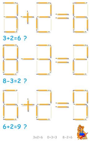 Logic number  puzzle illustration.