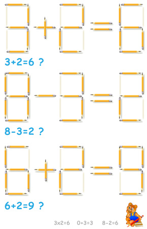 Logic number  puzzle illustration.