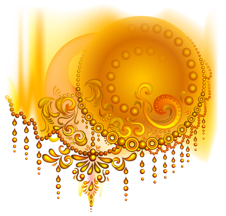 Fantasy abstract image for background. Vector image.