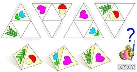 Logic puzzle game. Vector image. Vettoriali