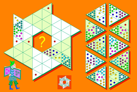 Logic Sudoku game in triangles. Need to complete the puzzle using the remaining details vector image.