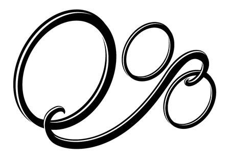 Abstract sign of zero percent. Black and white pattern, vector image.