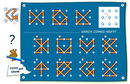 Logic puzzle game for children and adults. What sign should replace question mark? Find it and draw in empty square. Worksheet for kids school textbook. Print for brainteaser book. IQ training test.
