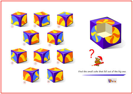Find the small cube that fell out of the big one.
