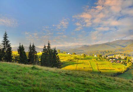 Fantastic morning mountain landscape in Carpathian, Ukraine