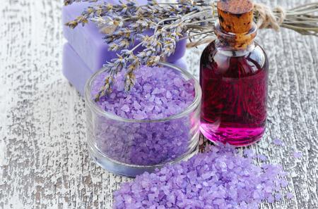 bathsalt: Lavender flowers and Spa oil