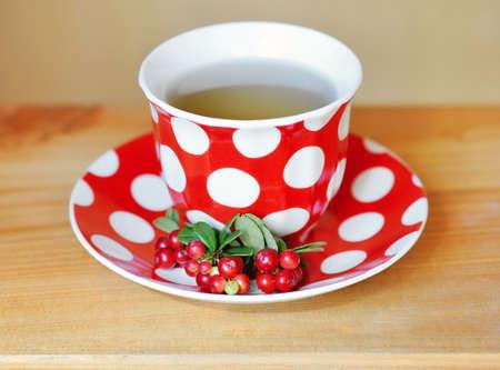 mountain cranberry: Cowberry (Vaccinium vitis-idaea) tea