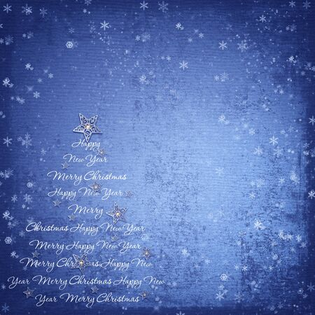 ornamental background: Christmas background on texture of paper with space for text