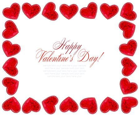 affiance: Red Hearts On White Background For Valentines Day, Valentines Card, Love