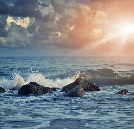 wavely: Beautiful View of seascape Stock Photo