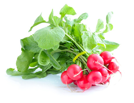 Fresh radish isolated on white background