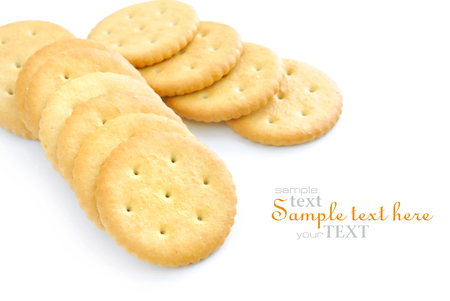 crackers: Crackers on white background