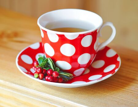 mountain cranberry: Cowberry (Vaccinium vitis-idaea) tea