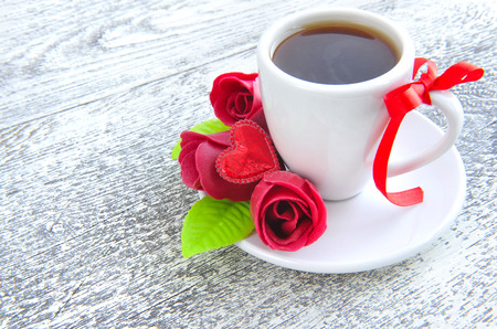 valentine          s day candy: Coffee is done with love for sweet one