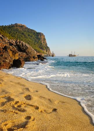 alanya: Sea beach in Alanya, Turkey