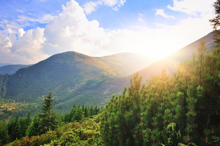 Fantastic day in a beautiful place in sunlight. Dramatic and picturesque morning scene. Location: Location: Carpathian, Ukraine, Europe Stock Photo