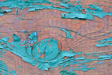 wood texture: Old wooden painted blue planks, paint peeling background Stock Photo