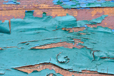 weathered: Old wooden painted blue planks, paint peeling background Stock Photo