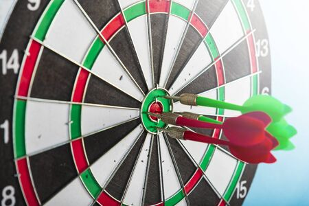 Aim with arrows in the center. Hit the target.