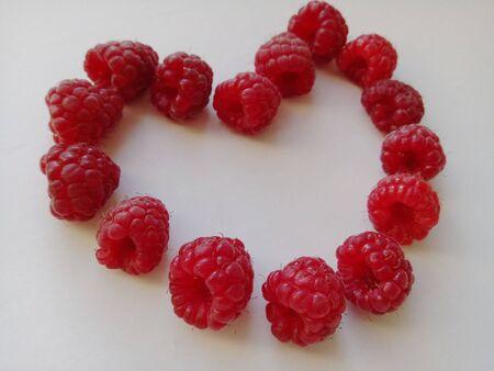 Ripe Raspberry Heart