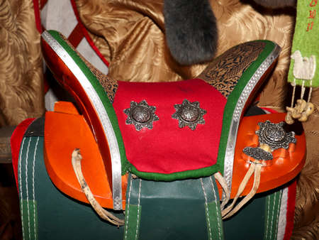 Saddle for the horse nomadic peoples of Asia and Mongolia.