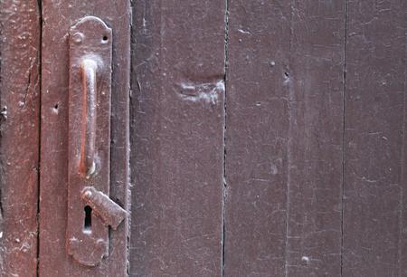 keyholder: Old painted door handle with keyholder