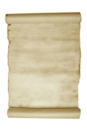 Ancient manuscript isolated over a white background Stock Photo - 11923943