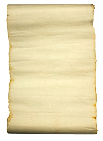Ancient manuscript isolated over a white background  Stock Photo - 11923942