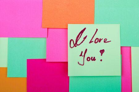 i pad: I Love You on background Stock Photo