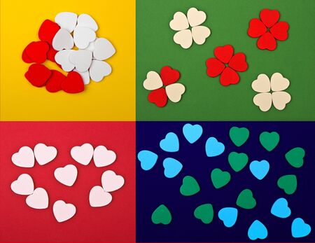 set of  hearts (4 in 1) photo
