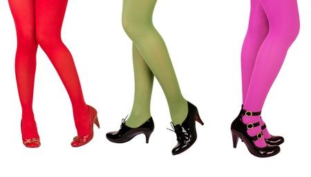 Womens legs  in  stockings  Stock Photo