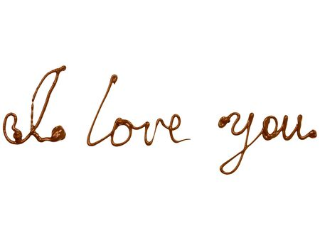 I love You on white background