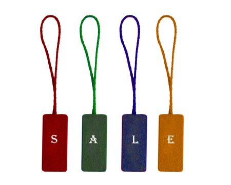 environmentalist tag: labels with word sale Stock Photo