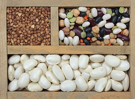 different types of grain as background photo