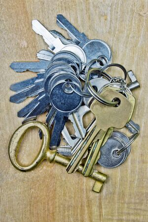 keys on wooden background  photo